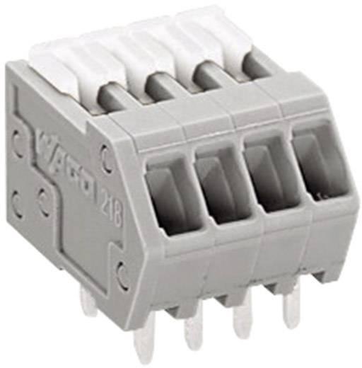 WAGO Federkraftklemmblock 0.50 mm² Polzahl 4 Grau 1 St.