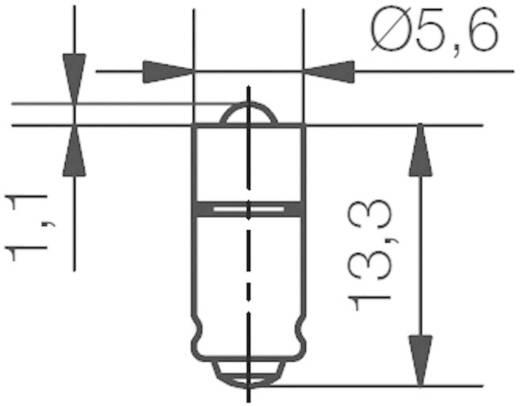 LED-Lampe T1 3/4 MG Weiß 12 V/DC 2000 mcd 428 mlm Signal Construct MEDG5762