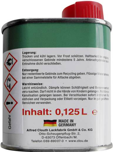 Glühlampen-Tauchlack 125 ml Rot CLOU