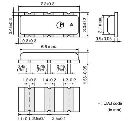 Keramik-Resonator Murata CSTCC10M0G53-R0 CERALOCK® 15 pF Abmessungen (L x B x H) 1.55 x 7.2 x 3.0 mm SMD-3