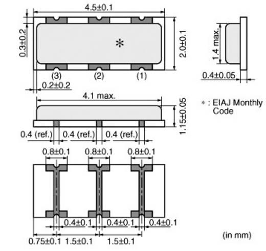 Keramik-Resonator Murata CSTCR4M00G53-R0 CERALOCK® 15 pF Abmessungen (L x B x H) 1.15 x 4.5 x 2.0 mm SMD-3