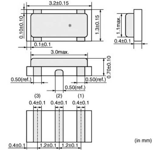 Keramik-Resonator Murata CSTCE8M00G55-R0 CERALOCK® 33 pF Abmessungen (L x B x H) 0.7 x 3.2 x 1.3 mm SMD-3