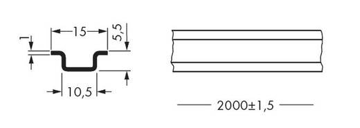 Aluminiumtragschiene 210-296 WAGO Inhalt: 10 St.