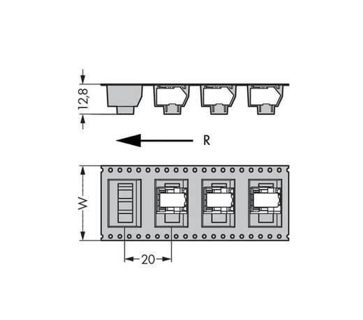 Federkraftklemmblock 0.50 mm² Polzahl 5 WAGO Schwarz 250 St.