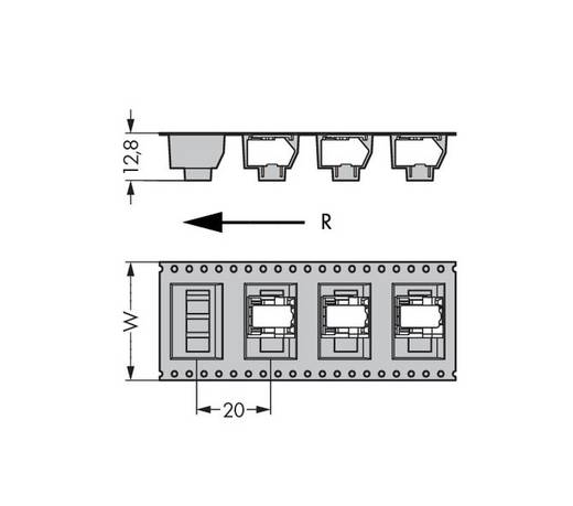 Federkraftklemmblock 0.50 mm² Polzahl 7 218-107/000-604/997-405 WAGO Schwarz 250 St.