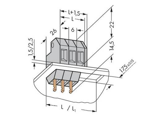 Federkraftklemmblock 4.00 mm² Polzahl 1 226-101 WAGO Grau 200 St.