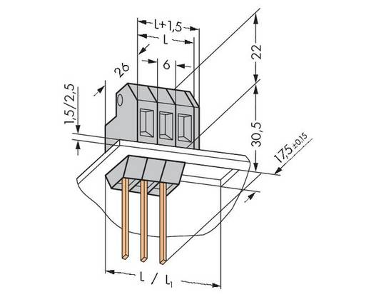 Federkraftklemmblock 4.00 mm² Polzahl 1 226-112 WAGO Grau 150 St.