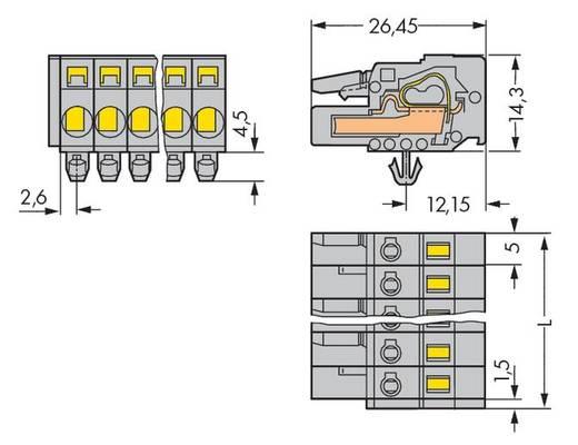 Buchsengehäuse-Kabel 231 Polzahl Gesamt 2 WAGO 231-102/008-000 Rastermaß: 5 mm 100 St.