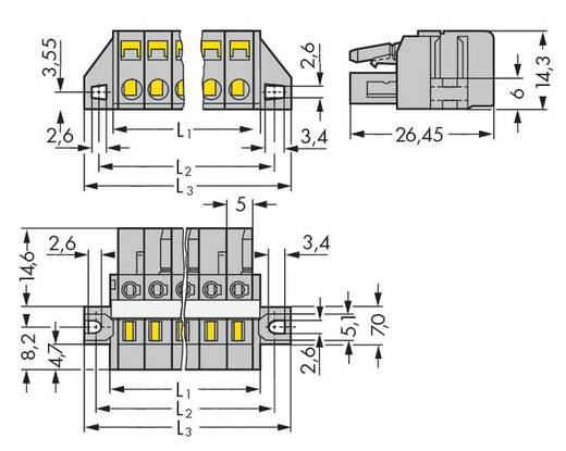 Buchsengehäuse-Kabel 231 Polzahl Gesamt 5 WAGO 231-105/031-000 Rastermaß: 5 mm 50 St.