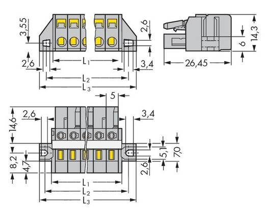 WAGO 231-106/027-000 Buchsengehäuse-Kabel 231 Polzahl Gesamt 6 Rastermaß: 5 mm 50 St.