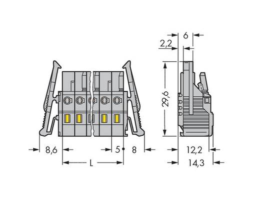 Buchsengehäuse-Kabel 231 Polzahl Gesamt 10 WAGO 231-110/037-047/035-000 Rastermaß: 5 mm 25 St.