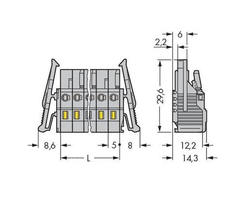 Buchsengehäuse-Kabel 231 Polzahl Gesamt 3 WAGO 231-103/037-045/033-000 Rastermaß: 5 mm 50 St.