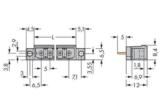 Stiftleiste (Standard) 300 Polzahl Gesamt 6 WAGO 231-136/040-000 Rastermaß: 5 mm 100 St.