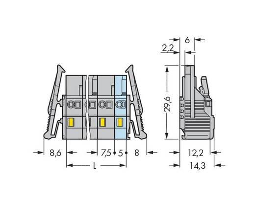 Buchsengehäuse-Kabel 231 Polzahl Gesamt 6 WAGO 231-206/037-000/034-000 Rastermaß: 7.50 mm 50 St.