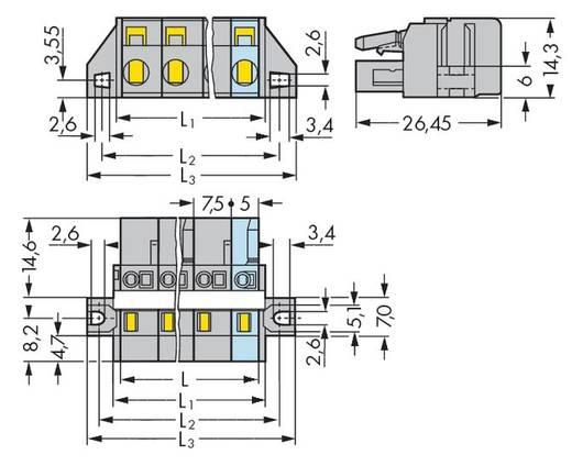 WAGO Buchsengehäuse-Kabel 231 Polzahl Gesamt 6 Rastermaß: 7.50 mm 231-206/027-000 25 St.