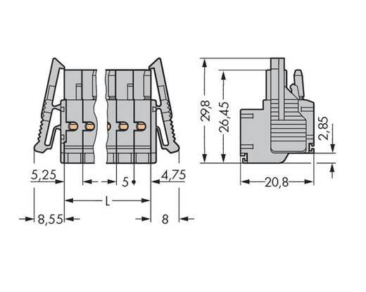 WAGO 231-2106/037-000 Buchsengehäuse-Kabel 231 Polzahl Gesamt 6 Rastermaß: 5 mm 50 St.