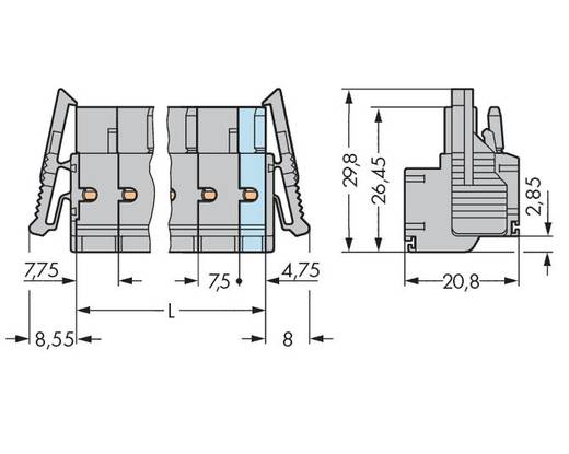 WAGO 231-2210/037-000 Buchsengehäuse-Kabel 231 Polzahl Gesamt 10 Rastermaß: 7.50 mm 25 St.