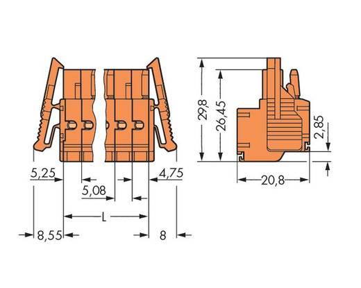 WAGO 231-2310/037-000 Buchsengehäuse-Kabel 231 Polzahl Gesamt 10 Rastermaß: 5.08 mm, 2.08 mm 25 St.