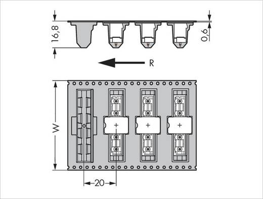WAGO Stiftleiste (Standard) 300 Polzahl Gesamt 8 Rastermaß: 7.50 mm 231-268/001-000/105-604/997-40 170 St.