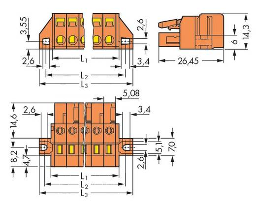 Buchsengehäuse-Kabel 231 WAGO 231-323/031-000 Rastermaß: 5.08 mm 10 St.