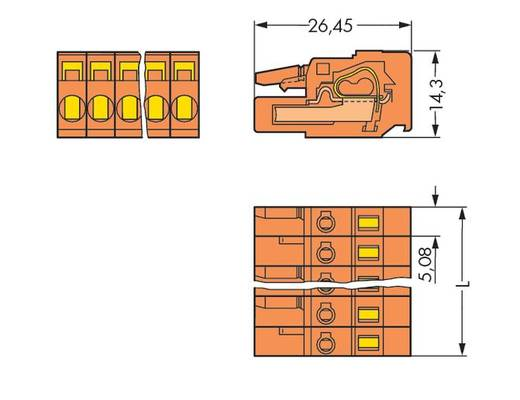 Buchsengehäuse-Kabel 231 Polzahl Gesamt 16 WAGO 231-316/102-000 Rastermaß: 5.08 mm 25 St.