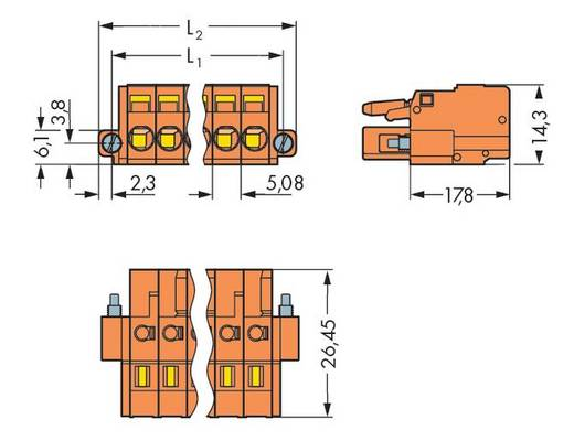 Buchsengehäuse-Kabel 231 Polzahl Gesamt 5 WAGO 231-305/107-000 Rastermaß: 5.08 mm 50 St.