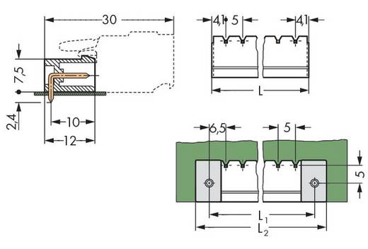 WAGO 231-434/001-000/105-604 Stiftleiste (Standard) 300 Polzahl Gesamt 4 Rastermaß: 5 mm 200 St.