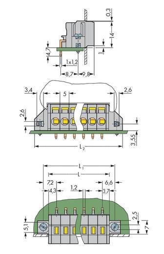 Federkraftklemmblock Polzahl 2 231-602/017-000 WAGO Grau 100 St.