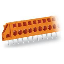 Pružinová svorka WAGO 231-641/023-000, 2.5 mm², Počet pinov 11, oranžová, 25 ks
