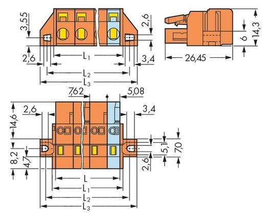 Buchsengehäuse-Kabel 231 Polzahl Gesamt 2 WAGO 231-702/031-000 Rastermaß: 7.62 mm 50 St.