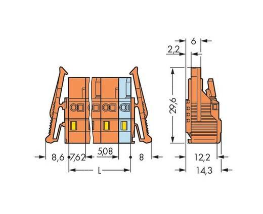 Buchsengehäuse-Kabel 231 Polzahl Gesamt 2 WAGO 231-702/037-047/032-000 Rastermaß: 7.62 mm 100 St.