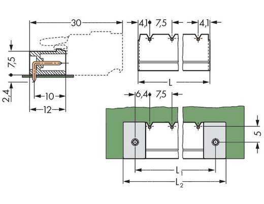 WAGO Stiftleiste (Standard) 300 Polzahl Gesamt 10 Rastermaß: 7.50 mm 231-870/001-000/105-604 50 St.