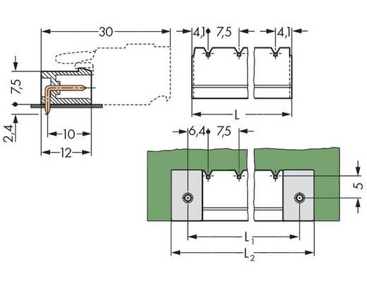 WAGO Stiftleiste (Standard) 300 Polzahl Gesamt 5 Rastermaß: 7.50 mm 231-835/001-000/105-604 100 St.
