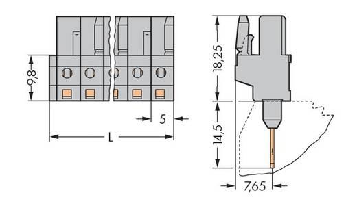 WAGO Buchsengehäuse-Platine 232 Polzahl Gesamt 6 Rastermaß: 5 mm 232-136/005-000 50 St.