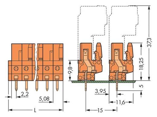 Buchsengehäuse-Platine 232 Polzahl Gesamt 6 WAGO 232-166 Rastermaß: 5.08 mm 50 St.
