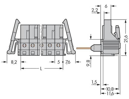 WAGO Buchsengehäuse-Platine 232 Polzahl Gesamt 4 Rastermaß: 5 mm 232-234/005-000/039-000 50 St.