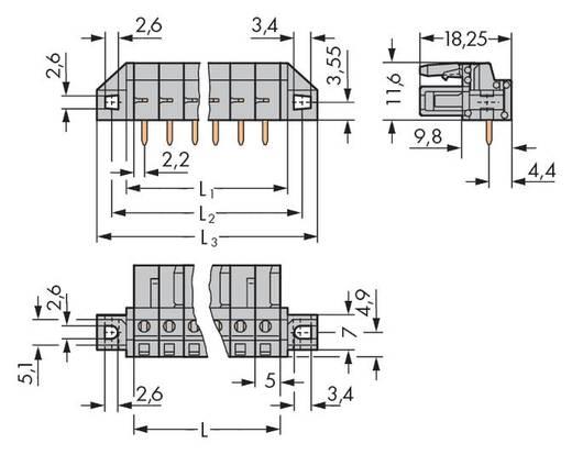 Buchsengehäuse-Platine 232 Polzahl Gesamt 6 WAGO 232-236/031-000 Rastermaß: 5 mm 50 St.