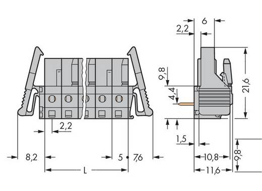 WAGO 232-244/039-000 Buchsengehäuse-Platine 232 Polzahl Gesamt 14 Rastermaß: 5 mm 25 St.