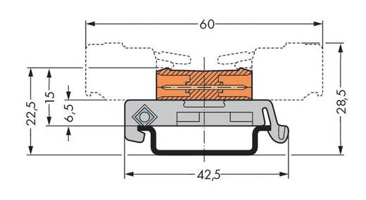 WAGO Stiftleiste (Standard) 301 Polzahl Gesamt 2 Rastermaß: 7.62 mm 232-582/007-000 50 St.