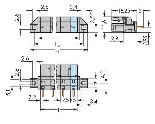 Buchsengehäuse-Platine 232 Polzahl Gesamt 3 WAGO 232-733/031-000 Rastermaß: 7.50 mm 50 St.
