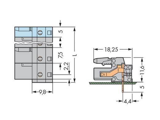 WAGO Buchsengehäuse-Platine 232 Polzahl Gesamt 4 Rastermaß: 7.50 mm 232-834 50 St.