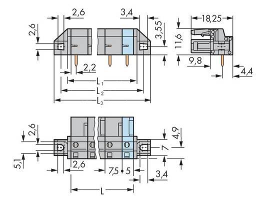 Buchsengehäuse-Platine 232 Polzahl Gesamt 3 WAGO 232-833/031-000 Rastermaß: 7.50 mm 50 St.