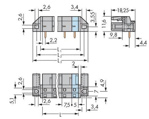 Buchsengehäuse-Platine 232 Polzahl Gesamt 6 WAGO 232-836/047-000 Rastermaß: 7.50 mm 25 St.