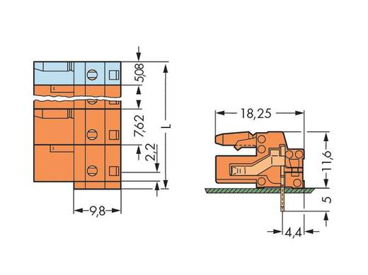 Buchsengehäuse-Platine 232 Polzahl Gesamt 4 WAGO 232-864 Rastermaß: 7.62 mm 50 St.