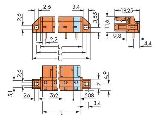 WAGO Buchsengehäuse-Platine 232 Polzahl Gesamt 3 Rastermaß: 7.62 mm 232-863/031-000 50 St.