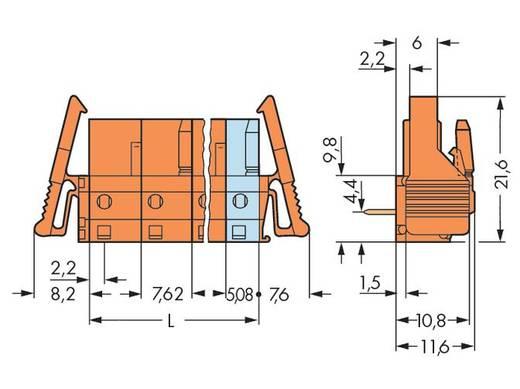 Buchsengehäuse-Platine 232 Polzahl Gesamt 6 WAGO 232-866/039-000 Rastermaß: 7.62 mm 25 St.