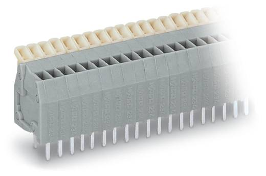 Federkraftklemmblock 0.50 mm² Polzahl 4 WAGO Grau 400 St.