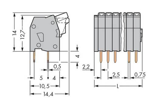 Federkraftklemmblock 0.50 mm² Polzahl 12 234-212 WAGO Grau 140 St.
