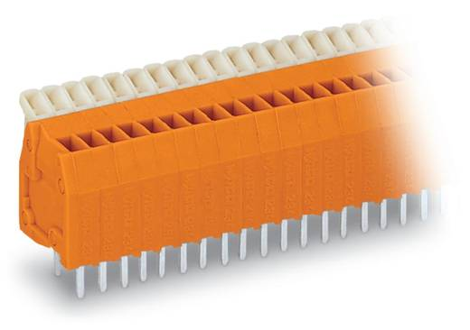 Federkraftklemmblock 0.50 mm² Polzahl 36 234-536 WAGO Orange 40 St.