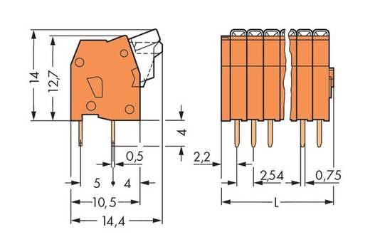 Federkraftklemmblock 0.50 mm² Polzahl 4 234-504 WAGO Orange 400 St.